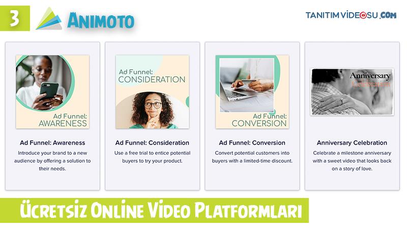 3 - Animoto ücretsiz online tanıtım videosu hazırlama
