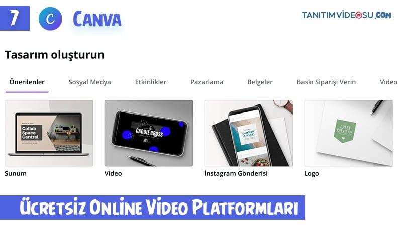 7 - Canva online ücretsiz tanıtım videosu hazırlama