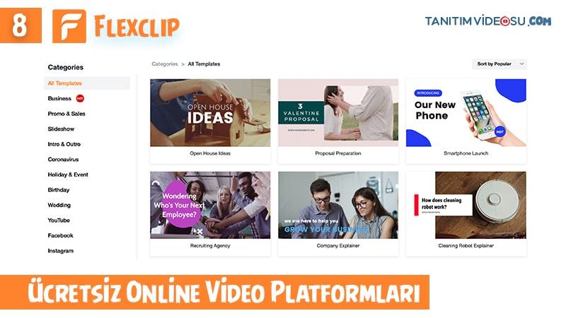 8 - Flexclip online video sitesi