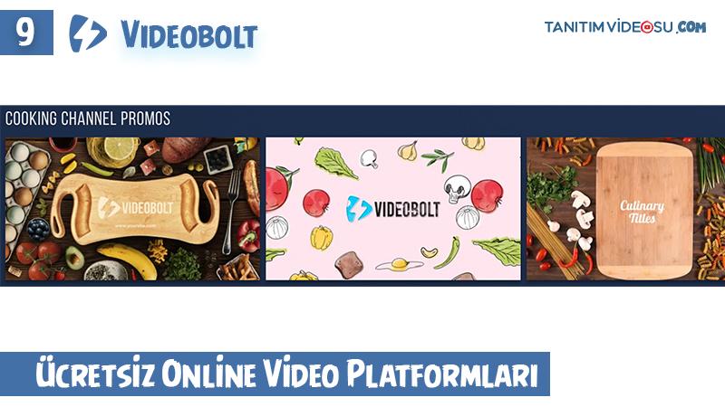 9 - Videobolt ücretsiz online video sitesi