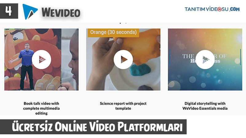 4 - Wevideo ücretsiz tanıtım videosu online